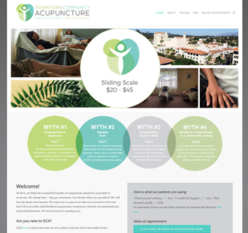 Acupuncturist Website – dejalane web design